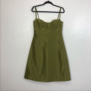 J. Crew Silk Green Cocktail Dress Size 6